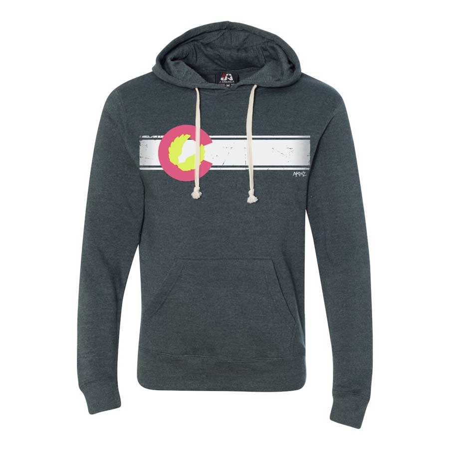 Colorado Flag Hoodie - Navy Blue