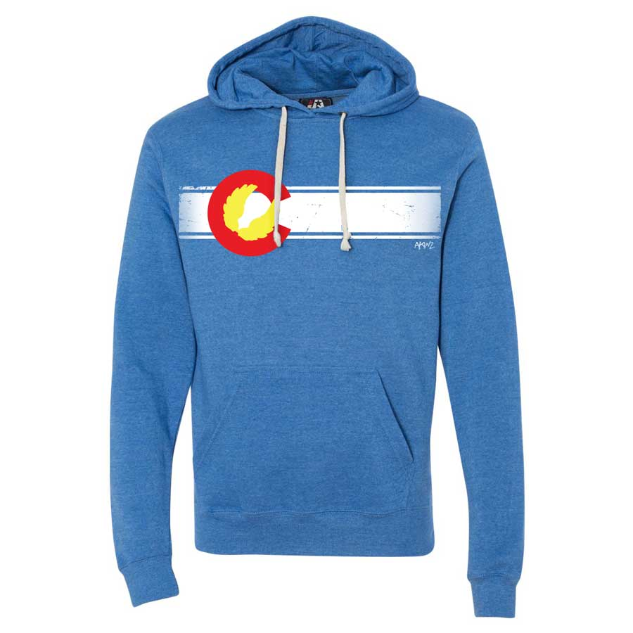 Colorado Flag Hoodie - Royal Blue