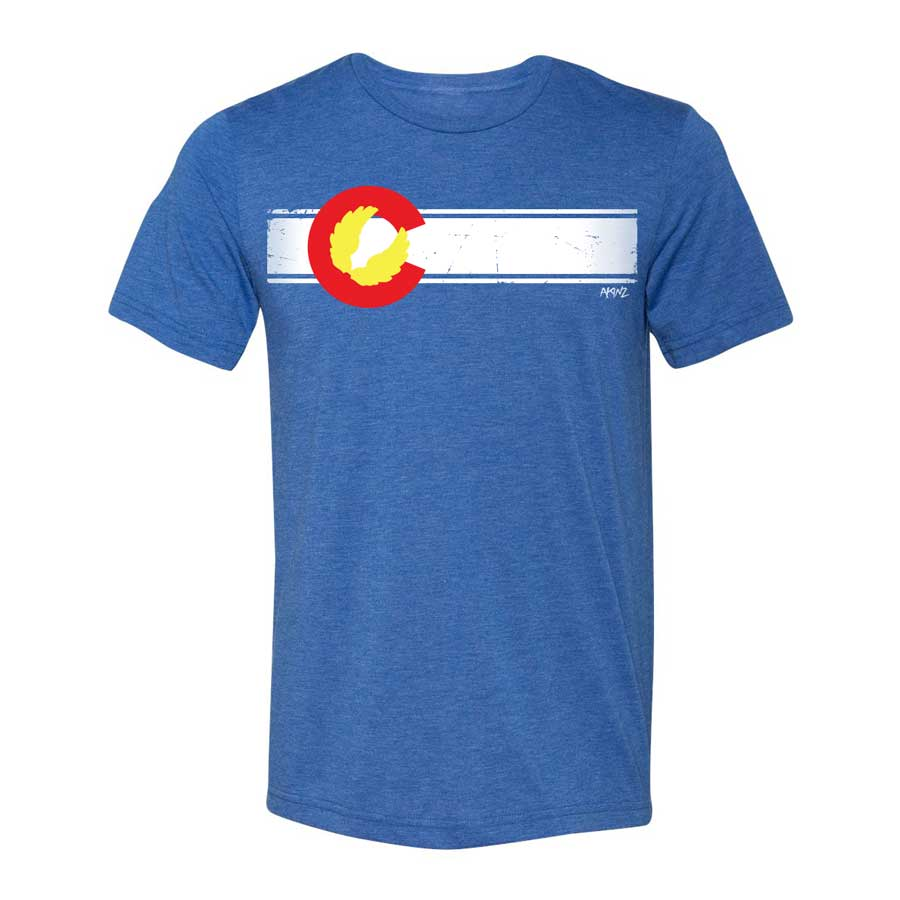 Colorado Flag Triblend Tee