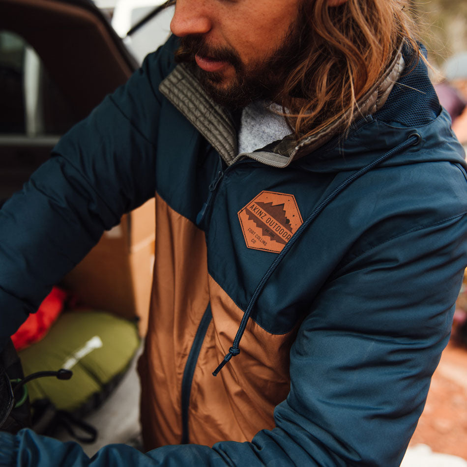 Venture Outdoor Windbreaker - Navy & Army Green