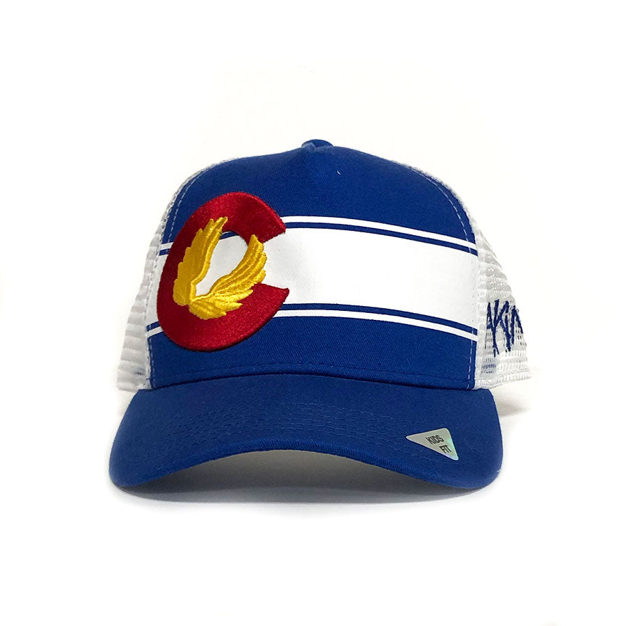 KIDS Colorado Flag Hat - Royal Blue