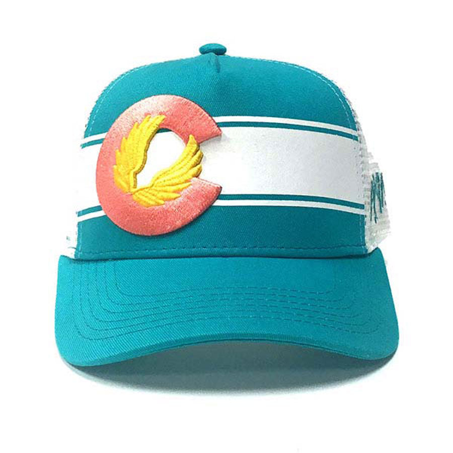 Colorado Flag Baseball Cap - Teal