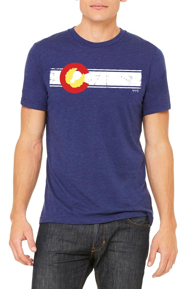 Colorado Flag Navy Tee