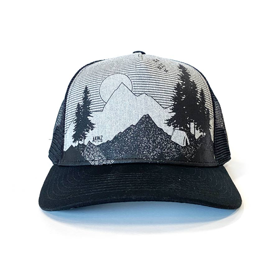 Five Star View Hat - Heather Gray