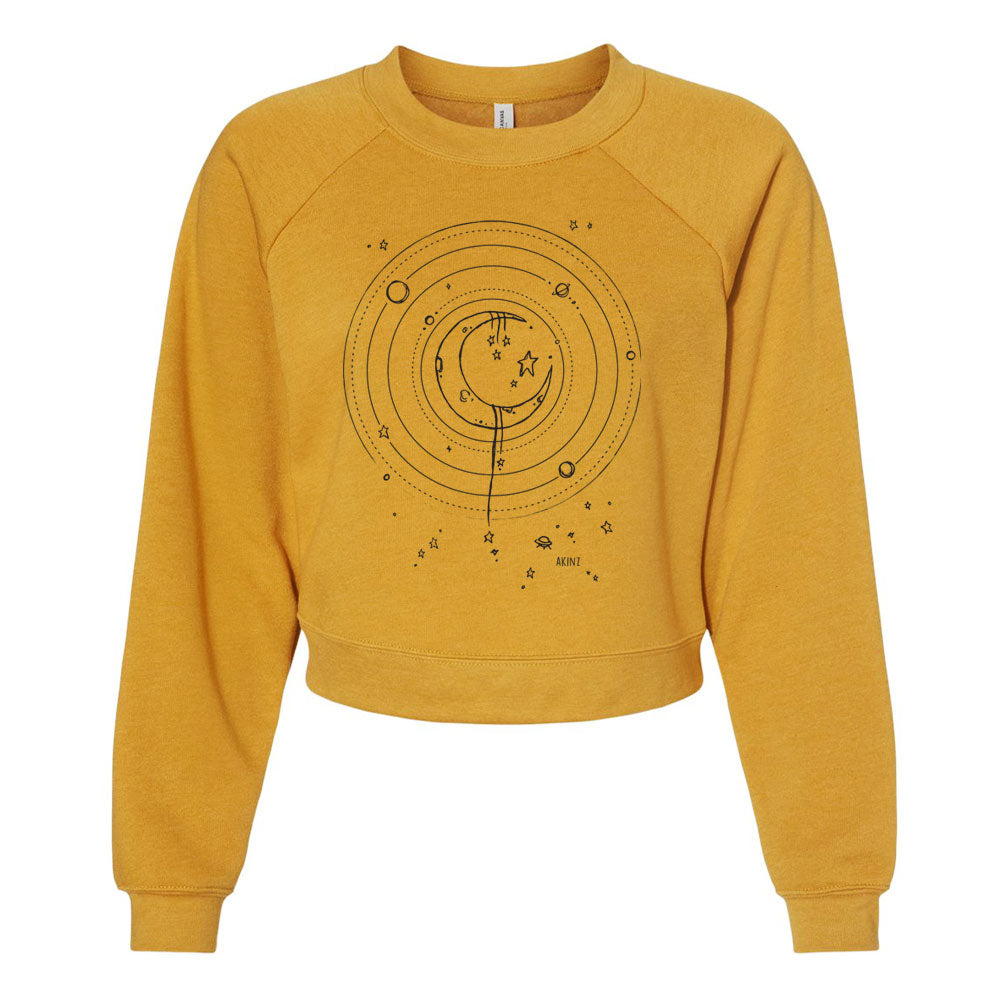 Fly Me to the Moon Cropped Sweatshirt