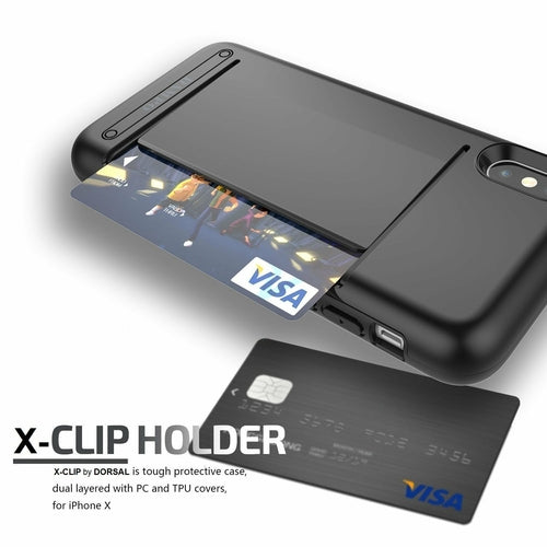 DORSAL iPhone 10 X Case Wallet Card Slot Drop Protection Heavy Duty