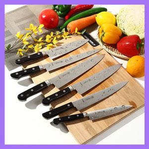 Syosaku Japanese Multi Slicer Chef Knife INOX AUS-8A Stainless Steel Black Pakkawood Handle, 8.3-inch (210mm)