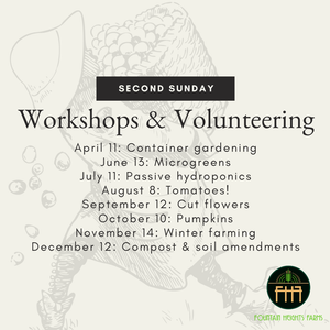Second Sunday Workshop and Volunteer Days
