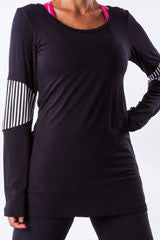 elbow patch long sleeve T shirt