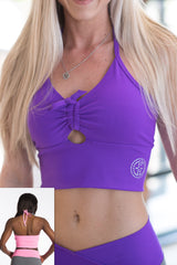 AR 1671 - Rushed Bodice Crop Top