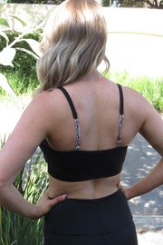 AR 1855 - PADDED STRAPPY CROP TOP