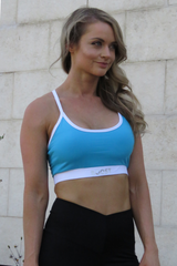 AR 1529 - Basic Buckle Back Strappy Crop Top