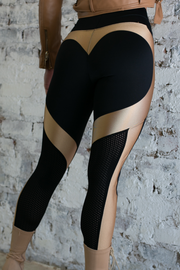 AR 2089 - CIRCLE INSET LONG TIGHTS