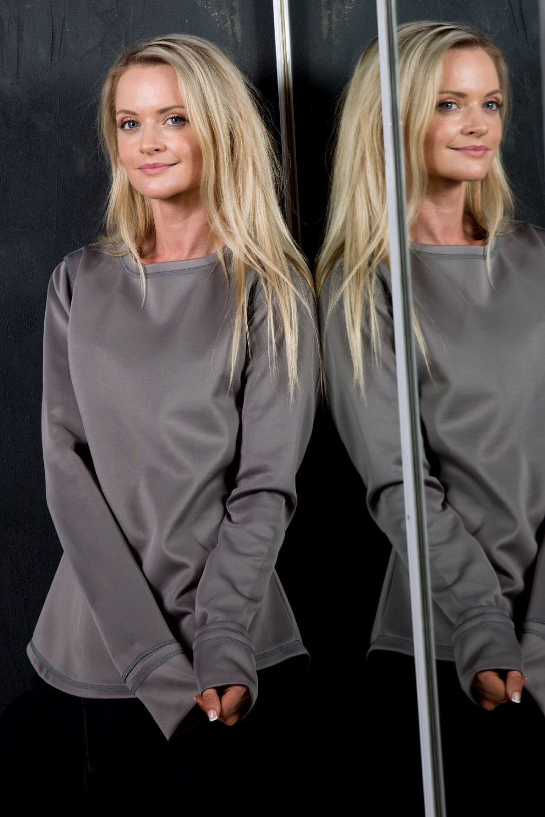 AR 1653 - Basic Scuba Sweatshirt with Rollover Cuff and Thumb Hole