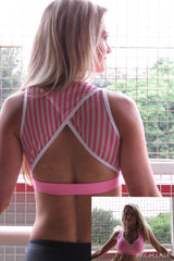 AR 1489-Mesh Back Cutaway Crop Top