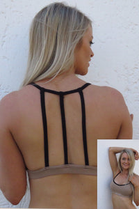 AR 1636 - 3 String Back Crop Top