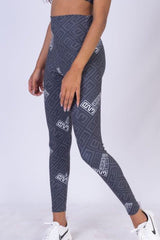 AR 1803 - B23 Printed High Rise Long Tights