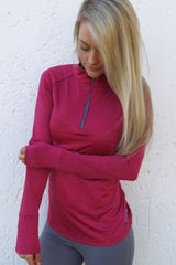 AR 1647 - 1/2 Zipper Long Sleeve Sweatshirt