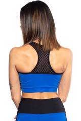 AR 1608 - Mesh Front Crop Top