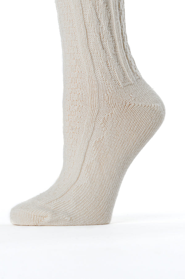 Cabled Cotton Stockings