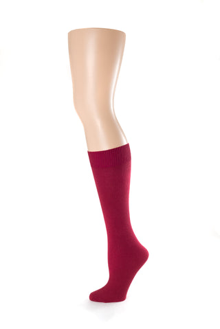 Delp Stockings Children's Cotton, Maroon color side picture 2