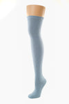 Delp Stockings Heavyweight Cotton Stockings. Colonial Blue color side view.