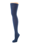 Delp Stockings Heavyweight Cotton Stockings. Dark Blue color side view.