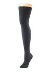 Delp Stockings Heavyweight Cotton Stockings. Slate color side view.