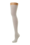 Delp Stockings Heavyweight Cotton Stockings. White color side view.