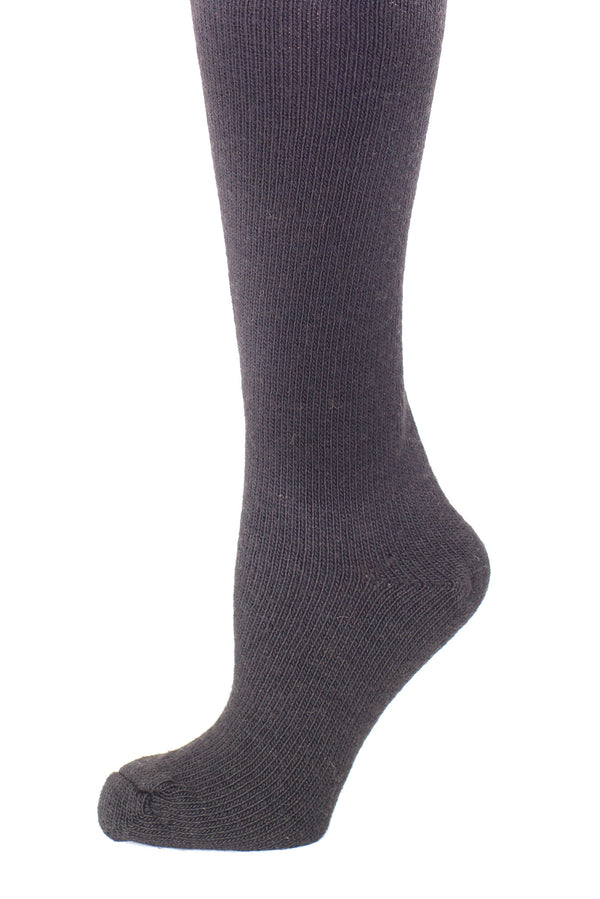 Delp Stockings, Heavyweight Wool Stockings. Black color side detail view.