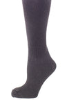 Delp Stockings, Seamed Heavyweight Wool Stockings. Black color side detail view.