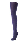 Delp Stockings, Seamed Heavyweight Wool Stockings. Dark Blue color side view.