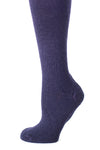 Delp Stockings, Seamed Heavyweight Wool Stockings. Dark Blue color side detail view.