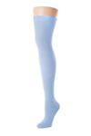 Delp Stockings, Seamed Lightweight Cotton Stockings. Colonial Blue color side view.
