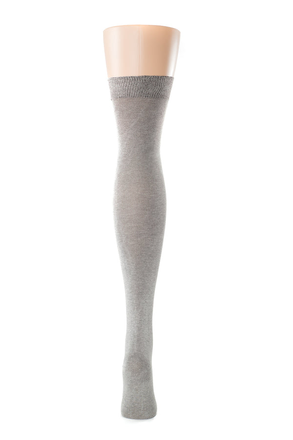 Delp Stockings, Silk Stockings. Charcoal color back view.