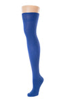 Delp Stockings, Silk Stockings. Royal Blue color side view.