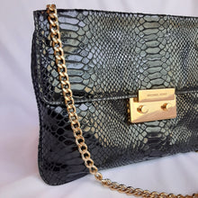 Load image into Gallery viewer, Michael Kors Black Python