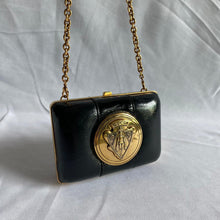 Load image into Gallery viewer, Black and Gold Gucci Mini Bag