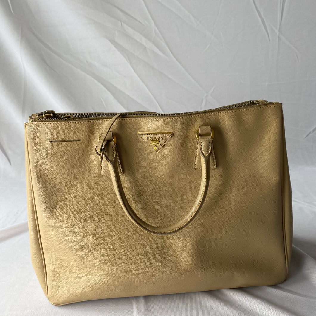 Prada Saffiano Leather Beige