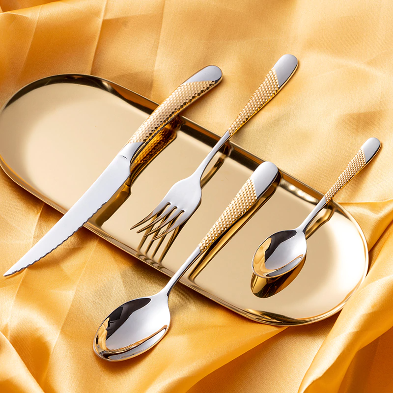 Ferran Diagonal Textured Stainless Steel Cutlery Set