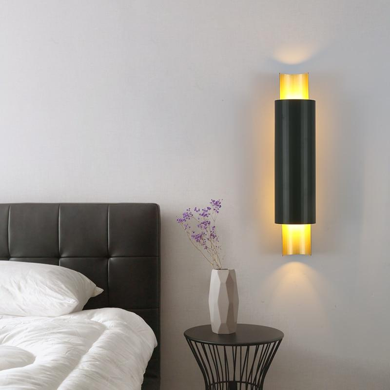 Noir Metal And Glass Cylinder Wall Lamp