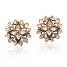 Load image into Gallery viewer, Double Floral Stud - Earrings