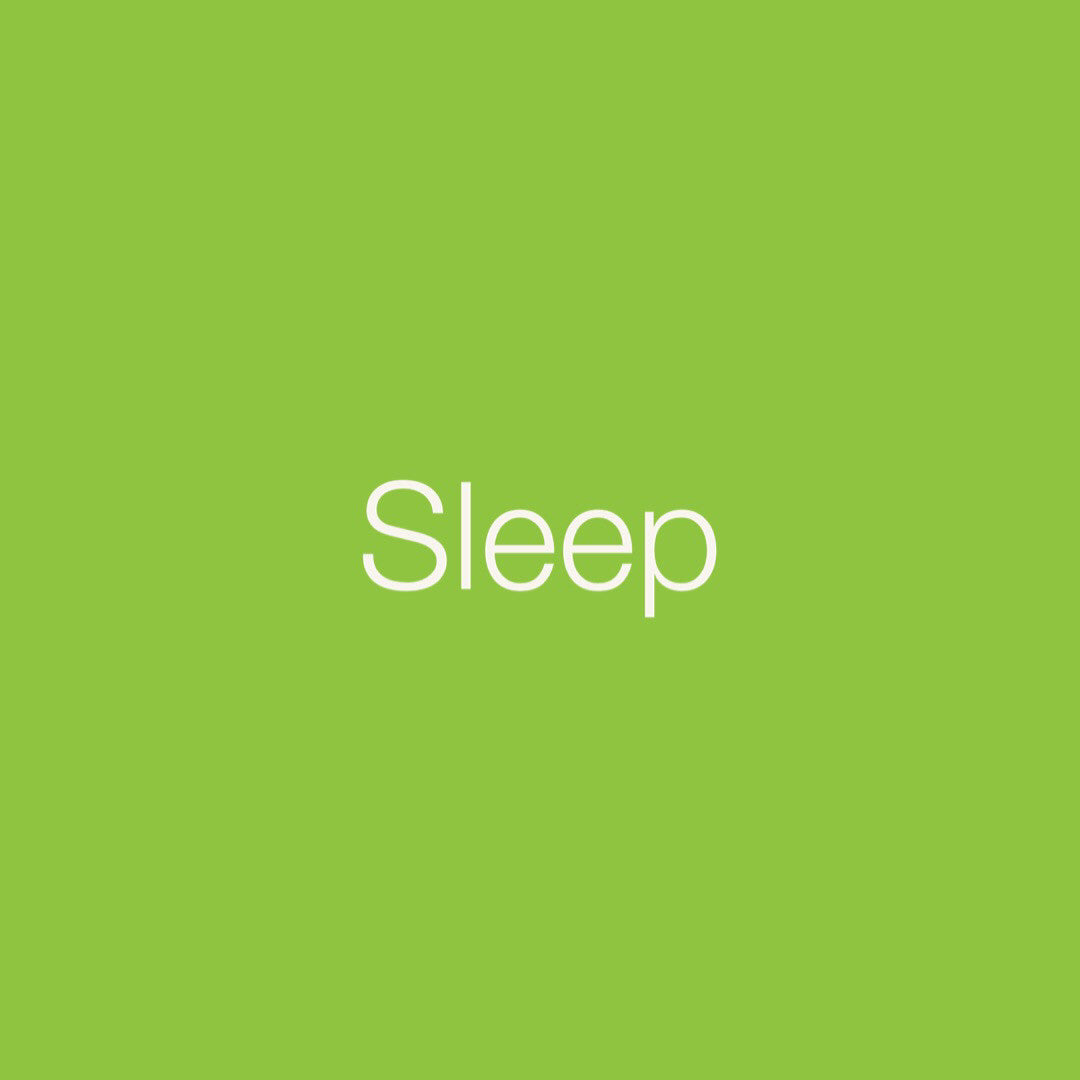 Personal Medicine Cards: Sleep