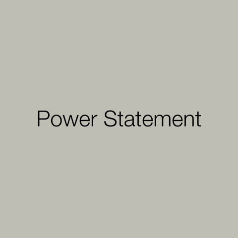 Toolkit: Power Statement
