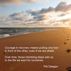 "Poster: ""Courage in Recovery"""