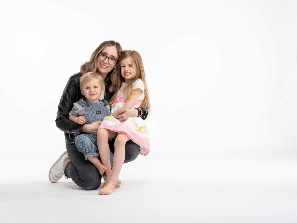 Sharday Engel, Owner & Founder with her two children