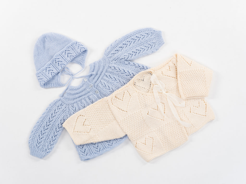 Circle Back Baby Cardigan and Hat