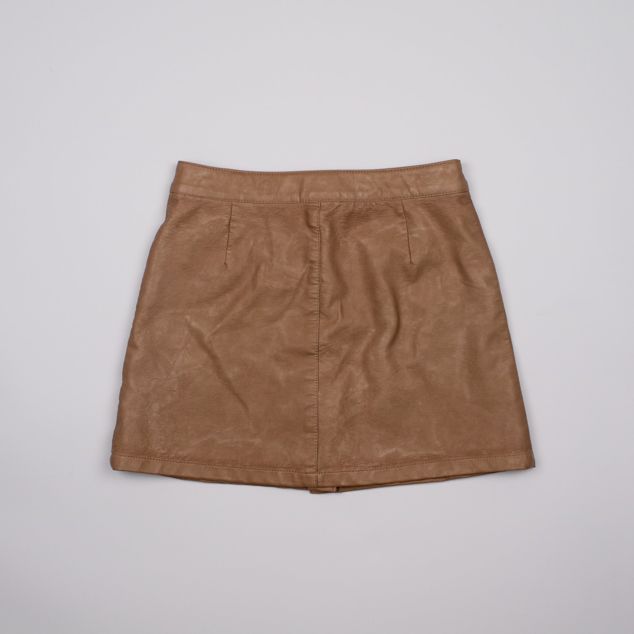Tan Faux Leather Mini Skirt 8-9Y
