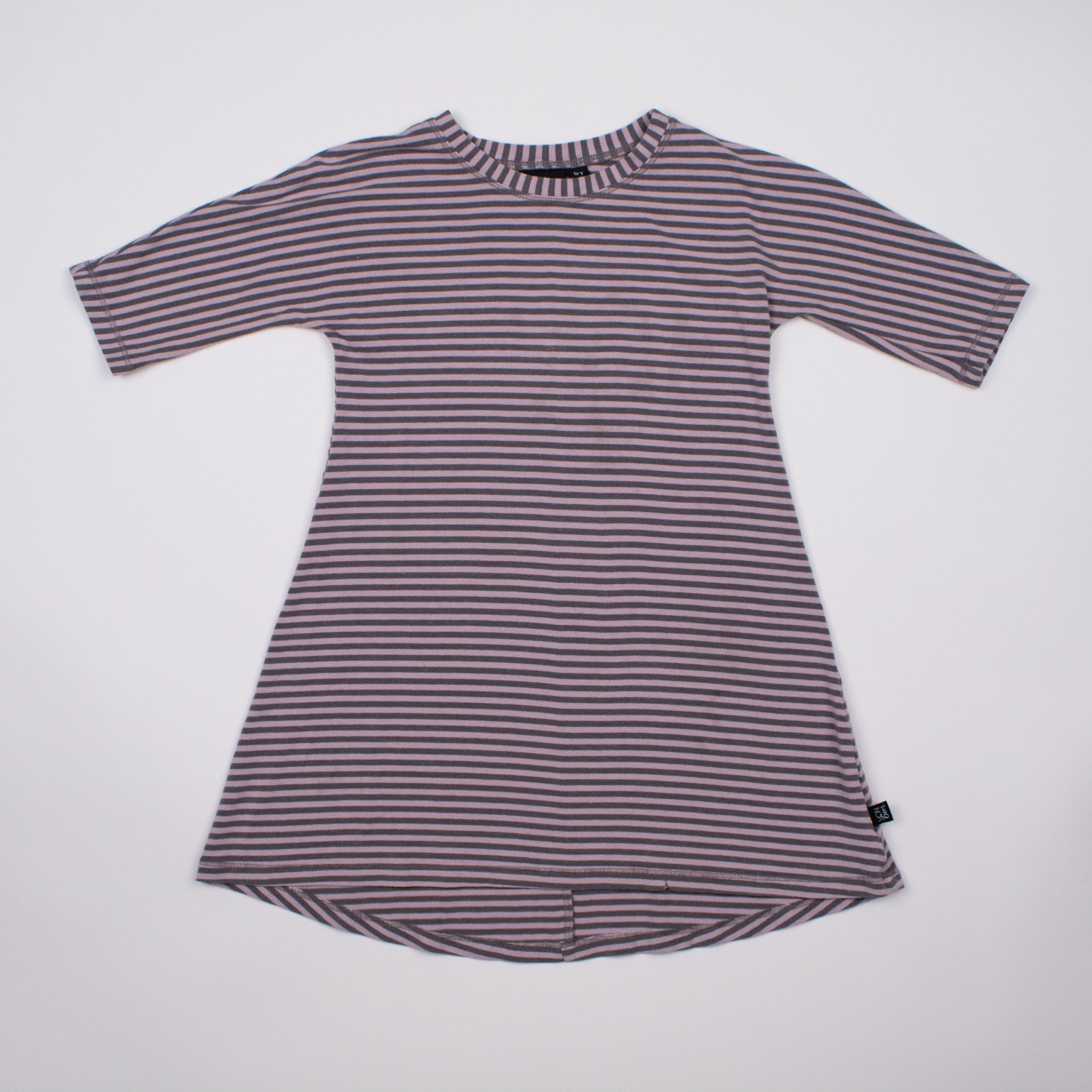 Lilac Stripe 3/4 Sleeve Dress 5-6Y