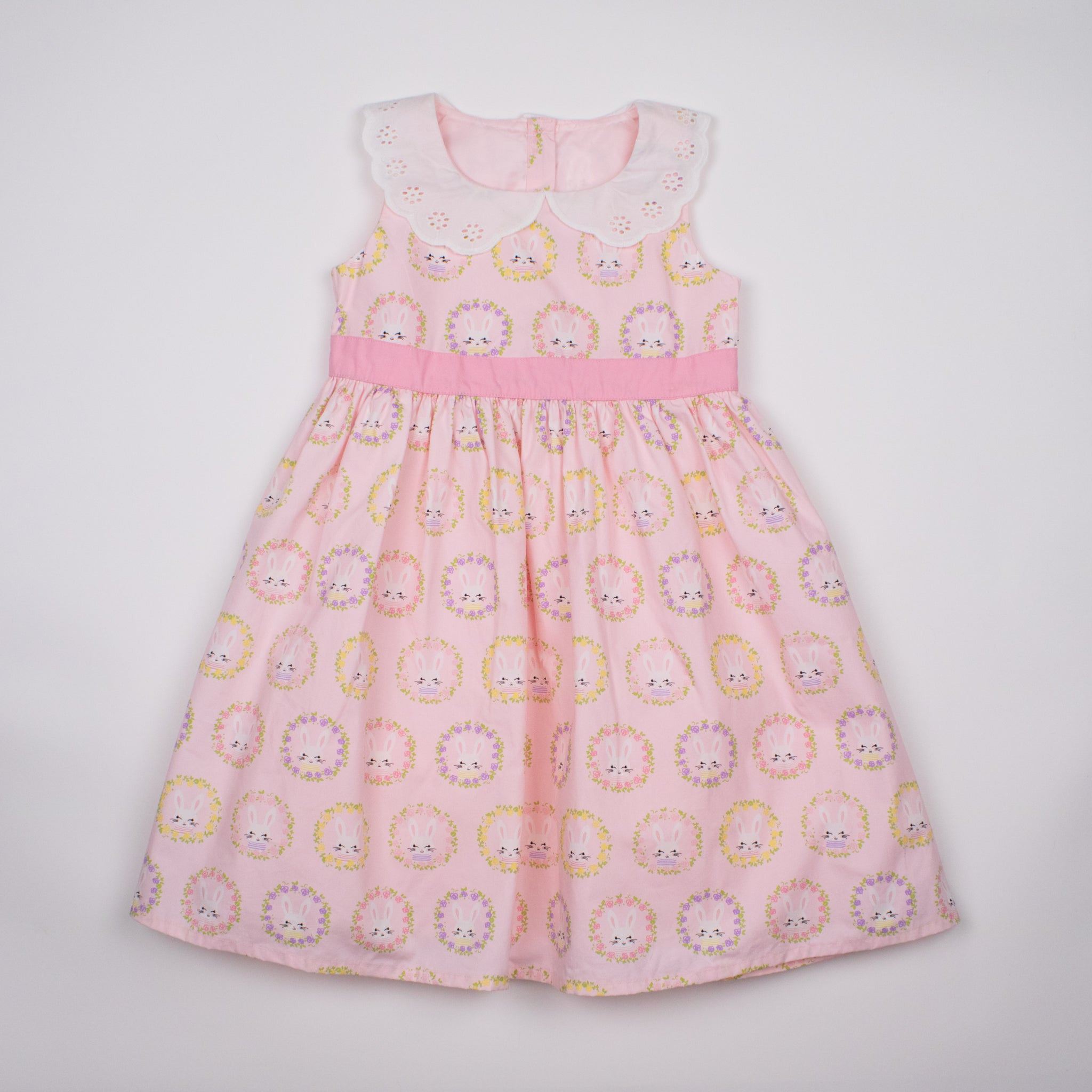 Pink Bunny Sleeveless Dress 1-5Y